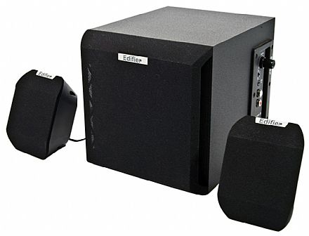 Caixa de Som 2.1 Edifier X100B - 15W RMS - Bivolt