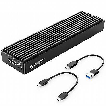Case para SSD M.2 NVMe - USB 3.0 e Tipo-C - 10 Gbps