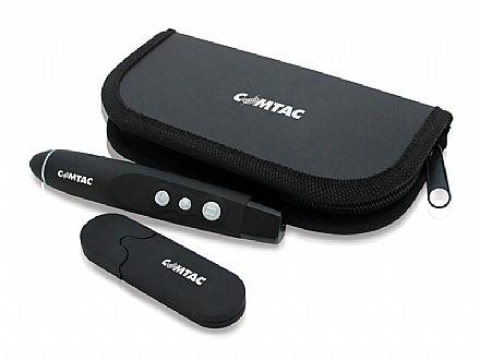 Apresentador Multimídia Laser Pointer Comtac 9199 - com Estojo - Receptor USB sem fio de alcance até 15m