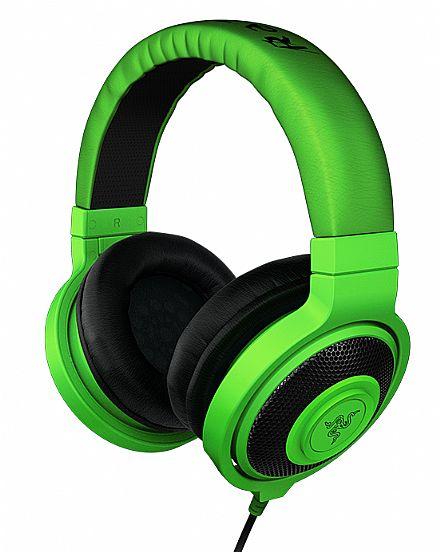 Headset Razer Kraken Green - Conector 3.5mm - RZ12-00870100-R3U1