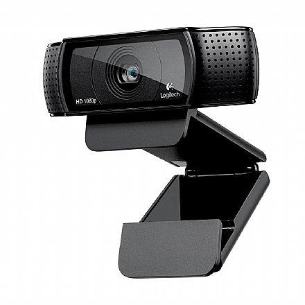 Web Câmera Logitech C920 HD Pro - 15 Megapixels - Videochamada em Full HD com áudio estéreo
