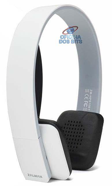 Headset Zalman ZM-HPS10BT Bluetooth - Controle de Volume e Audio - Branco