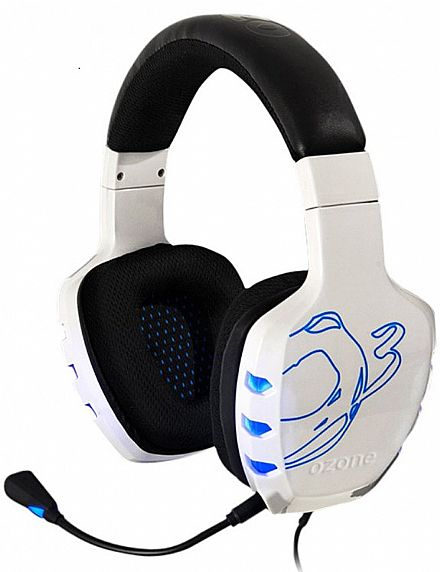 Headset Ozone Rage 7HX 7.1 White Edition - Conector USB - OZRAGE7HXW