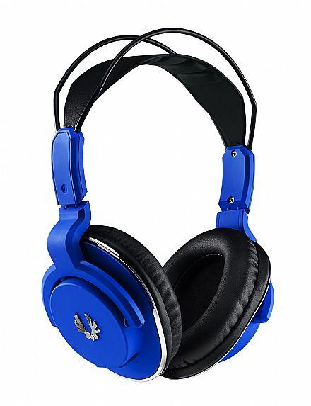 Headset BitFenix Flo - com Microfone e Controle de Volume - Conector 3.5mm - Azul - BFH-FLO-KBSK1-RP