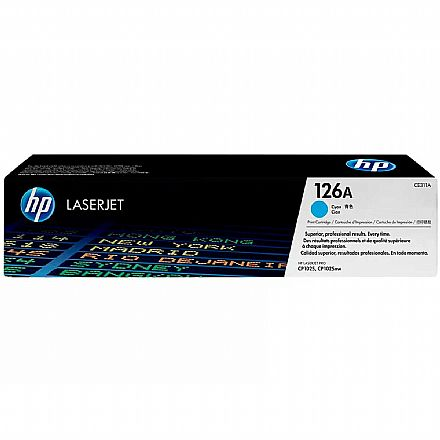 Toner HP 126A Ciano - CE311A - Para HP Color Laserjet M175NW / M175A / M176N / M275NW / M177FW / CP1025