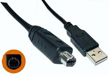Cabo USB para Mini USB - 8 pinos redondo