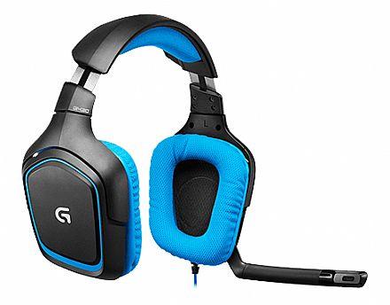 Headset Logitech G430 - Dolby® Surround 7.1 - Conector USB - Controle de Volume e Mute