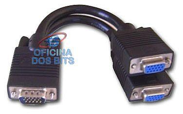 Cabo Y VGA - Liga 2 monitores / TV em 1 Saida VGA