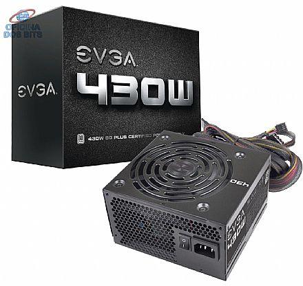 Fonte 430W EVGA - Eficiência 80% - 100-W1-0430-KR