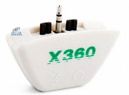 Adaptador com entrada para Fone e Microfone X-box 360 - TYX-018B