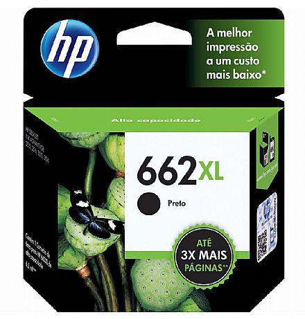 Cartucho HP 662XL Preto - CZ105AB - Para Deskjet 1515 / 1516 / 2545 / 2546 / 2646 / 3546 / 4646