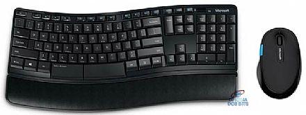 Kit Teclado e Mouse sem Fio Microsoft Sculpt Comfort Desktop - BlueTrack Technology® - L3V-00005