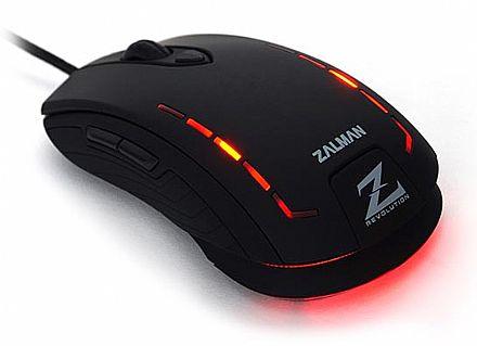 Mouse Gamer Zalman ZM-M401R - 2500dpi - Avago A5050 Gaming Sensor - USB