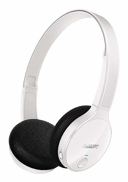 Fone de Ouvido Bluetooth Philips SHB4000WT/00 - Branco - Estereo - com Microfone