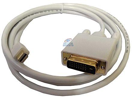 Cabo Conversor Mini DisplayPort para DVI-D - 1,8 metros - 24+1 Pinos (Mini DisplayPort M X DVI-D M)