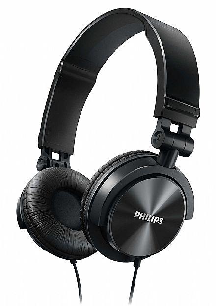 Fone de Ouvido Philips SHL3050BK/00 - Conector 3.5mm - Dobrável