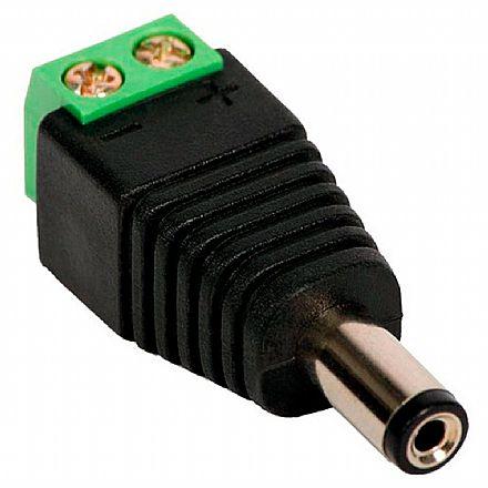 Plug Conector P4 Macho com Borne