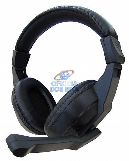 Headset Newdrive - Som Hi-Fi - Conector 3.5mm - com controle de volume - Preto