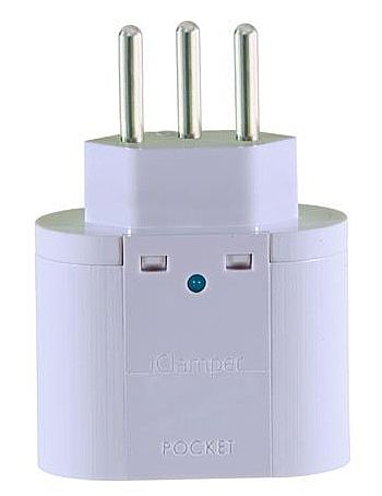 Protetor Contra Raios Clamper iClamper Pocket 3P - DPS - Branco - 10200