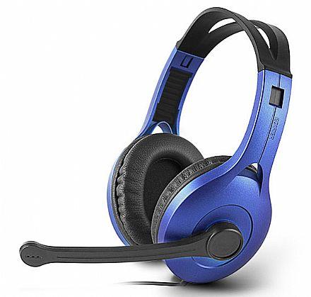 Headset Edifier K800 - Conector 3.5mm - Azul