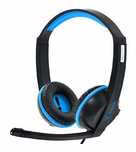Headset Gamer PCYes Hawk - Conector 3.5mm - com controle de volume - Azul - 21834