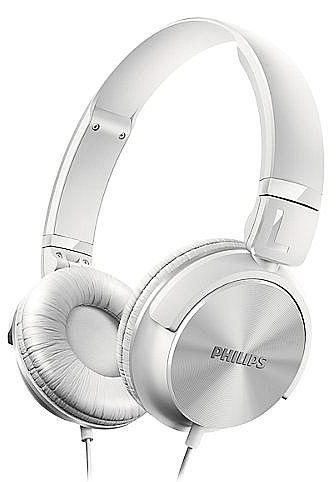 Fone de Ouvido Philips SHL3060WT/00 - Branco - Conector 3.5mm - Dobrável - com Graves Nítidos