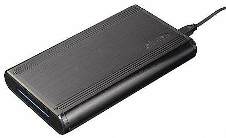 "Case para HD 3.5"" SATA Akasa Noir S - USB 3.0 - Corpo de Alumínio Escovado - AK-IC20U3-BK"