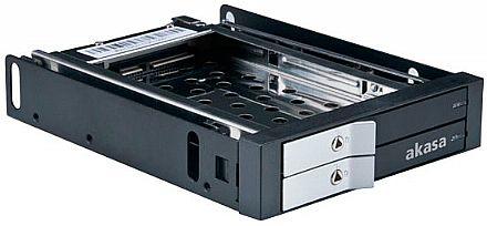 "Gaveta para HD Akasa Lokstor M21 - Rack 3.5"" para 2 x HD/SSD 2.5"" - AK-IEN-03"