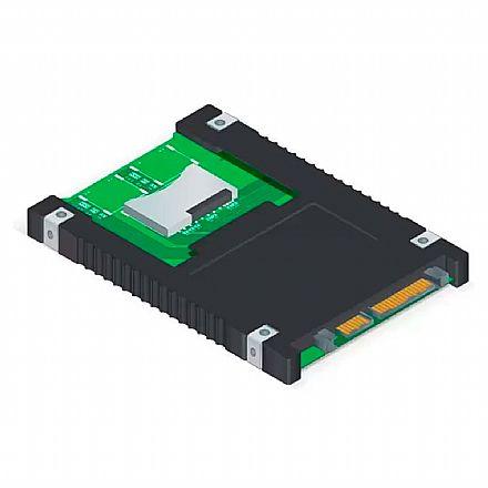 """Adaptador Cartão SD para SATA 2.5"""" Comtac 9289 - 2 slots para cartão SD"""