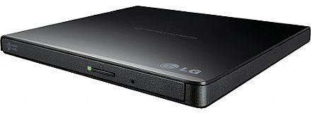 Gravador DVD Externo LG Slim - 8x - Portátil - USB - Preto - GP65NB60