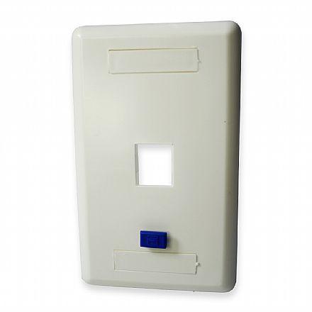 Espelho 4x2 - para 1 saída - com identificador de rede e telefonia
