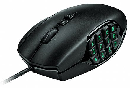 Mouse Gamer Logitech G600 MMO - 8200dpi - 20 botões - com LED - 910-002864