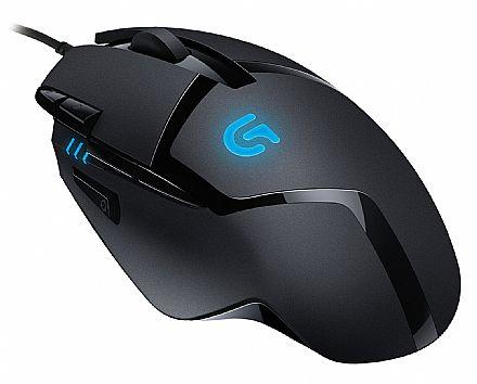 Mouse Gamer Logitech G402 Hyperion Fury - 4000dpi - 8 botões programáveis - 910-004069