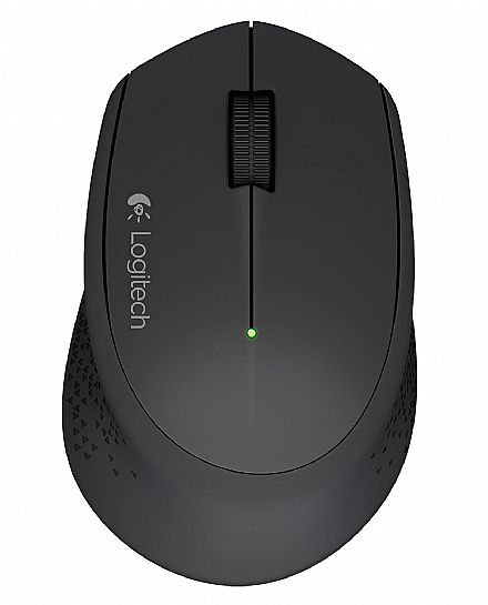 Mouse sem Fio Logitech M280 - USB - 2.4 GHz - 1000dpi - Preto - 910-004284