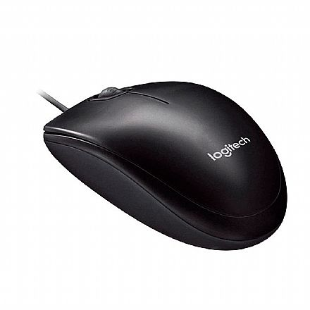 Mouse Logitech M90 - USB - 1000dpi - Preto - 910-004053