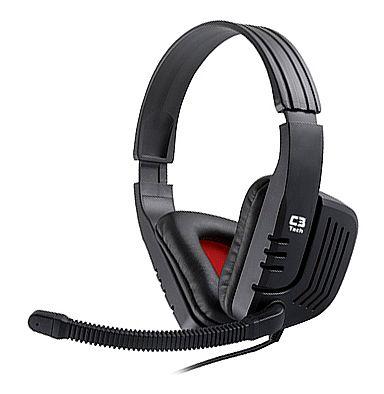 Headset C3 Tech Gamer - com Controle de Volume - Conector 3.5mm - MI-2558RB