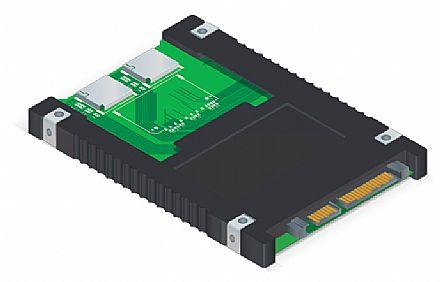 """Adaptador Cartão SD para SATA 2.5"""" Comtac 9290 - 4 slots para cartão SD"""