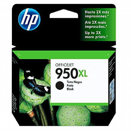 Cartucho HP 950XL Preto - CN045AB - Para HP 251DW, 276DW, N811, 8600, 8600Plus, 8610, 8620