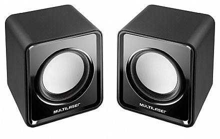 Caixa de Som 2.0 Multilaser SP144 - 3W RMS - USB - Preto
