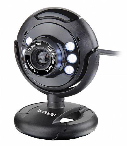 Web Câmera Multilaser Nightvision WC045 - com Microfone e LED