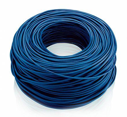 Rolo de Cabo UTP Cat 5e para rede - Multilaser - Homologado - Azul - 100 metros
