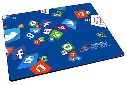 Mousepad Bits - 220 x 175 x 2mm - Blue Bits