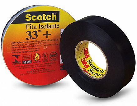 Fita Isolante 3M Scotch 33+ - 19mm x 10 metros