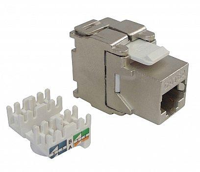 Conector Fêmea RJ45 Cat 6 - Keystone - Blindado - WT-2201