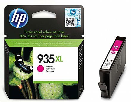 Cartucho HP 935 XL Magenta - C2P25AL - Para HP Officejet Pro 6830 / HP Officejet Pro 6230