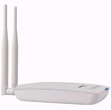 Roteador Wi-Fi Intelbras Hotspot 300 - Repetidor, 2 Antenas 2,4 GHz, até 60 usuários - Função Check-in no Facebook