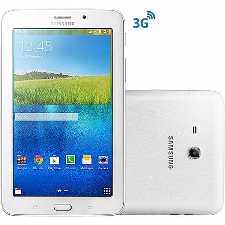 """Tablet Samsung Galaxy Tab E T116 3G - Tela 7"""", Android, Wi-Fi, 8GB, Quad Core - Branco - SM-T116BU"""