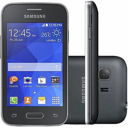 "Smartphone Samsung Galaxy Young 2 Pro - Tela 3,5"", Pequeno, Dual Core, 4GB, Dual Chip - Cinza - SM-G130"