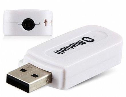 Receptor de Áudio Bluetooth - USB - Branco