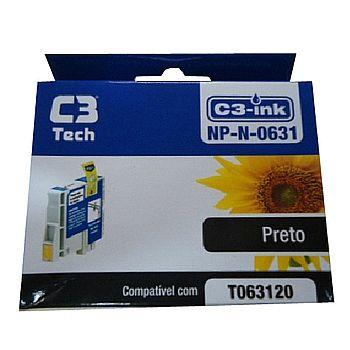 Cartucho compatível Epson T0631 Preto - C3 Tech NP-N-0631